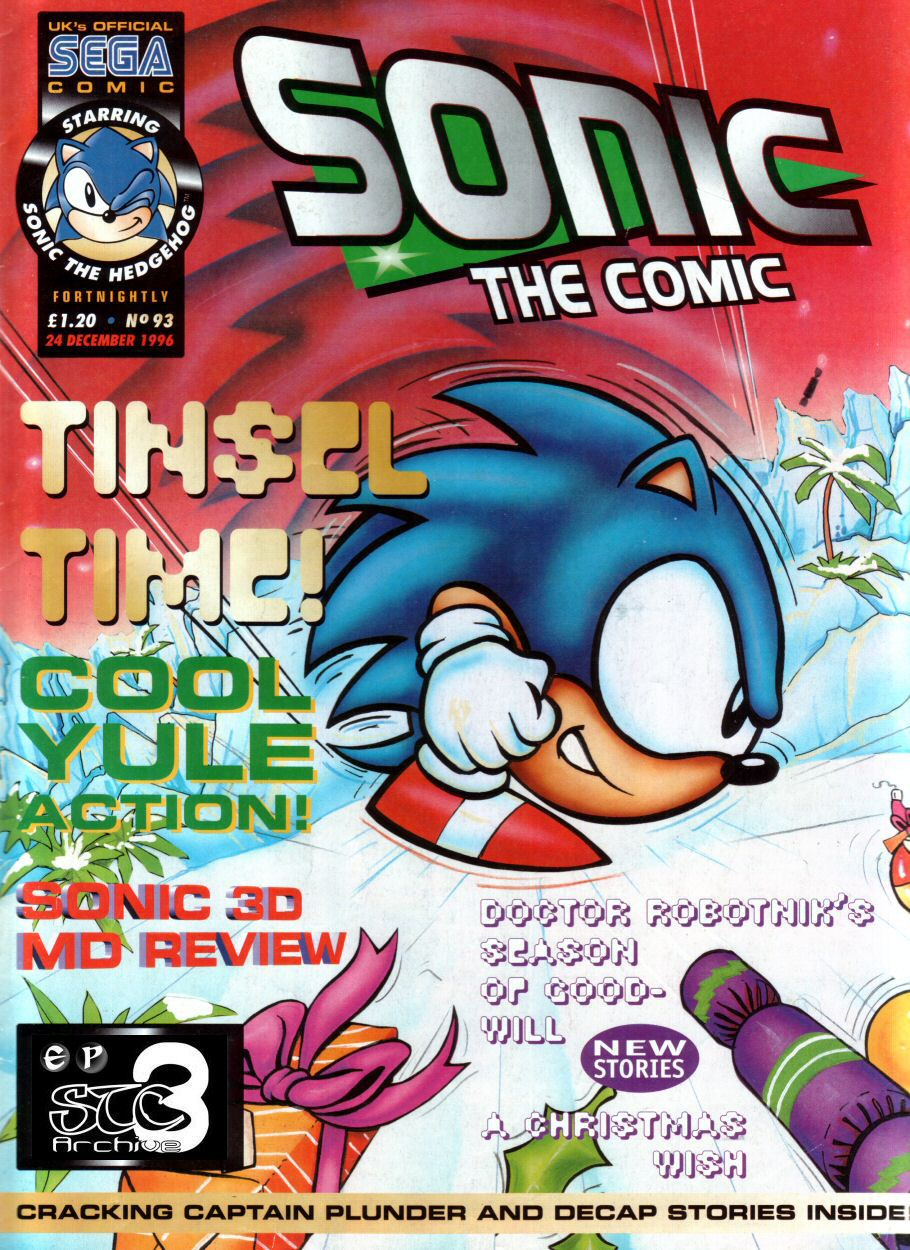 Sonic - The Comic Issue No. 093 Comic cover page