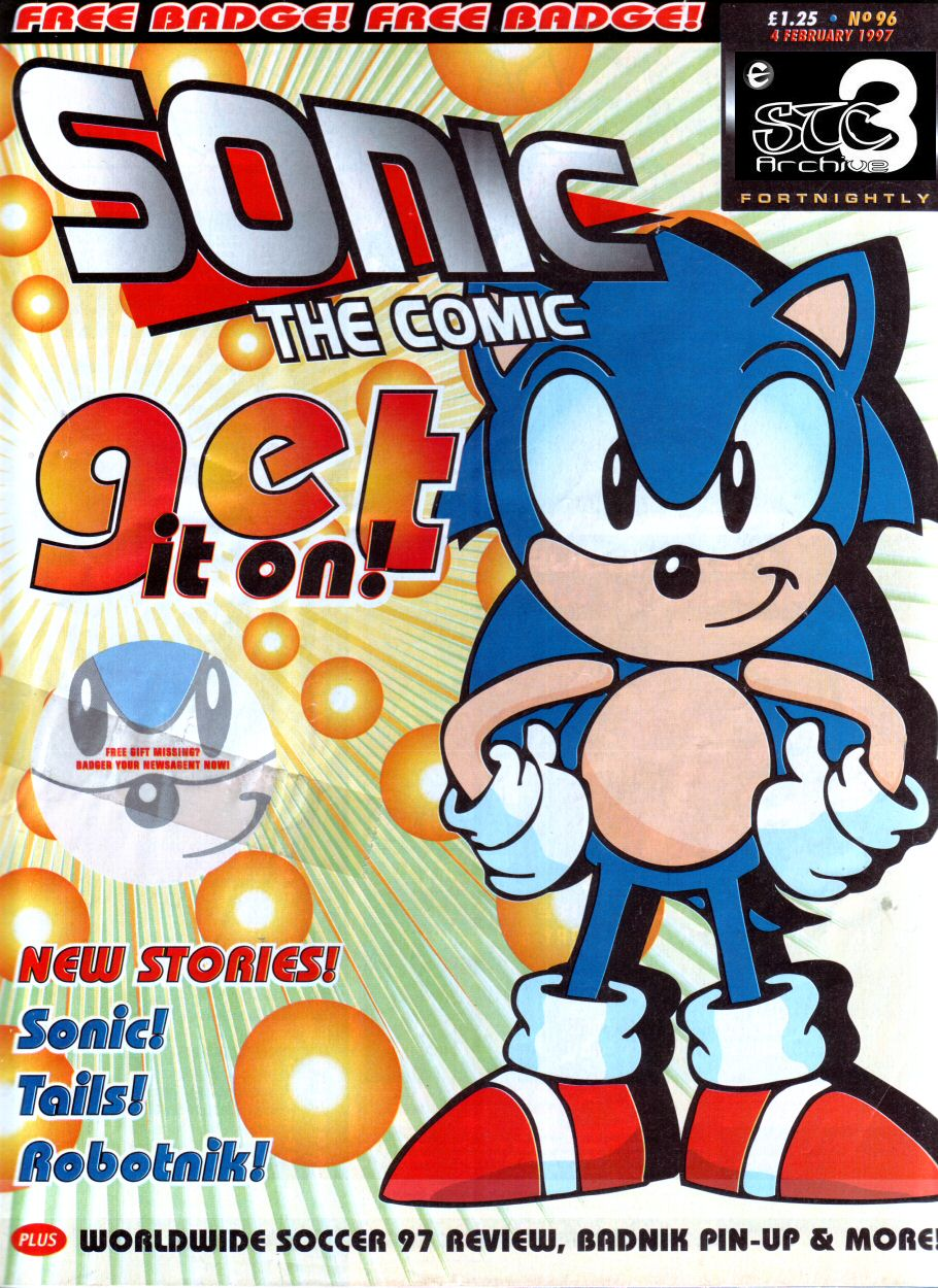 Sonic - The Comic Issue No. 096 Comic cover page