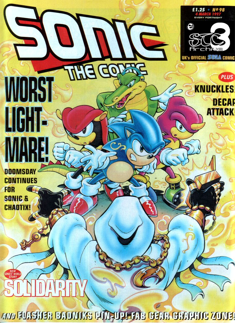 Sonic - The Comic Issue No. 098 Comic cover page