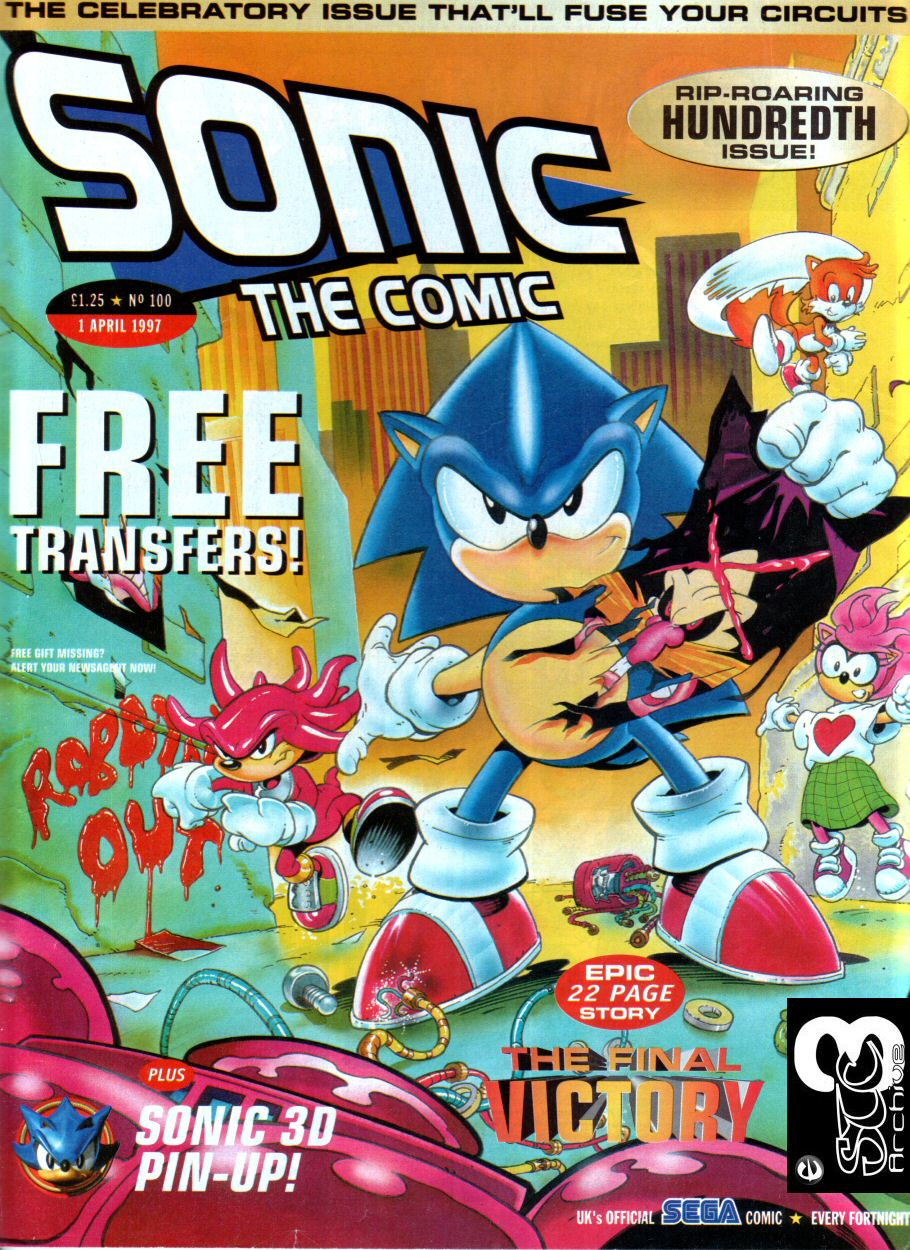Sonic - The Comic Issue No. 100 Comic cover page