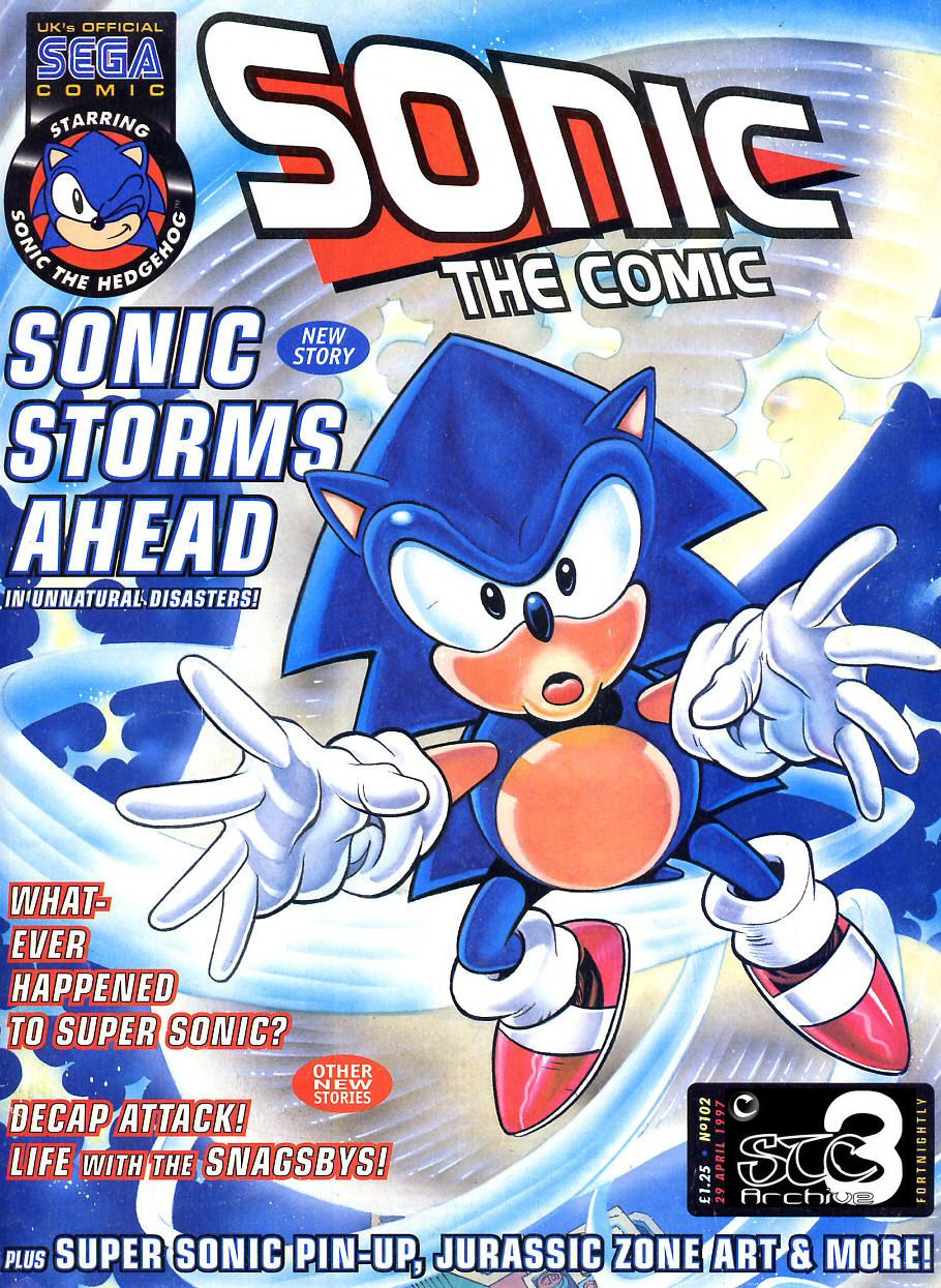 Sonic - The Comic Issue No. 102 Comic cover page