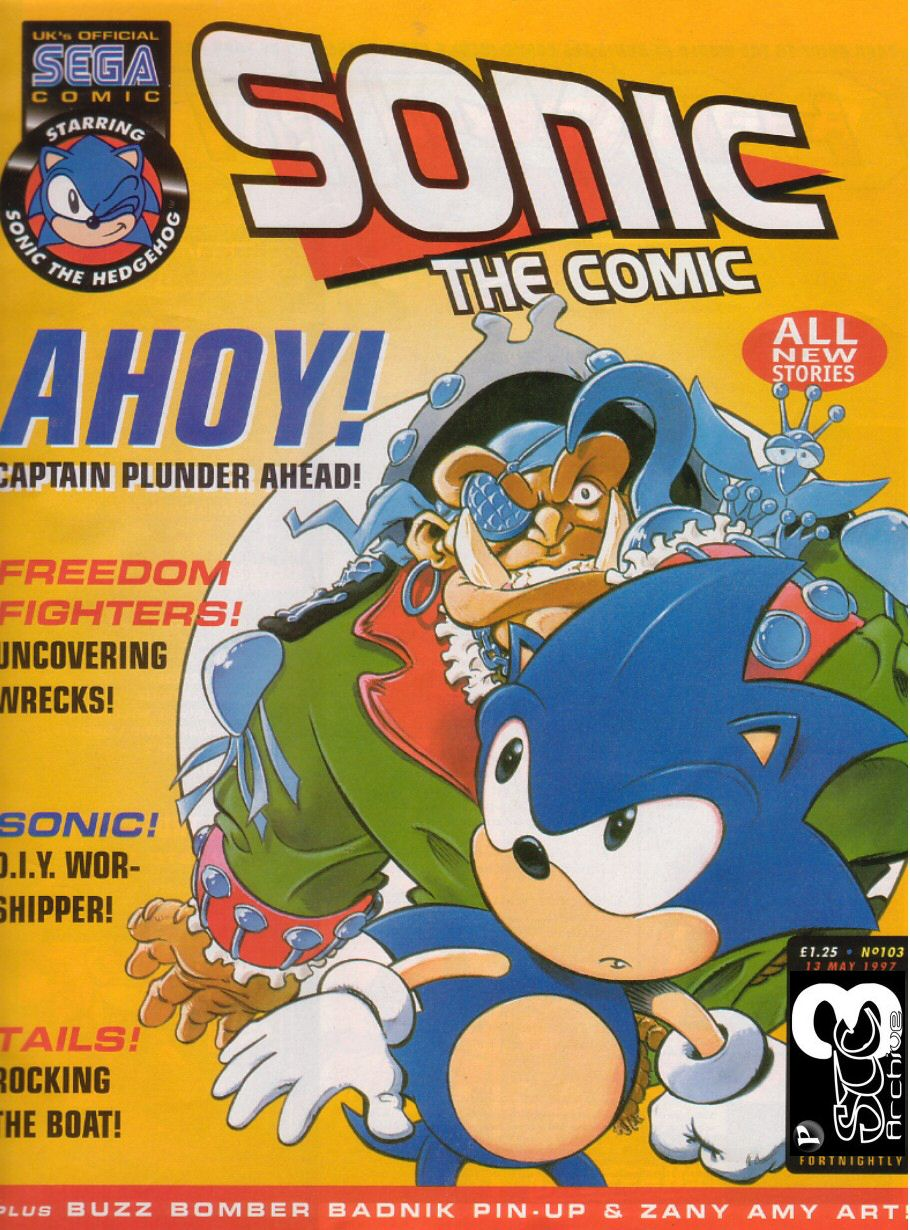 Sonic - The Comic Issue No. 103 Cover Page