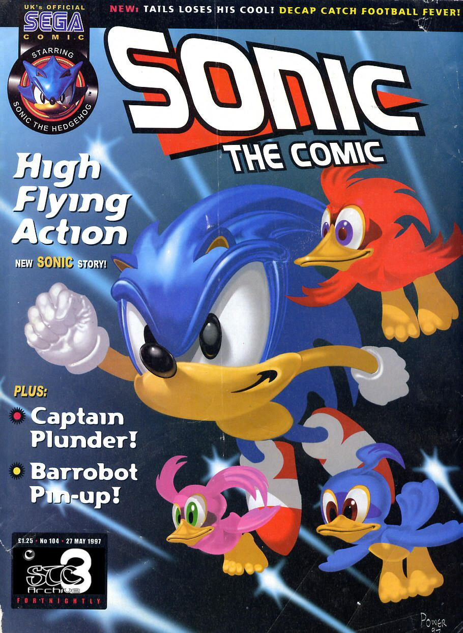 Sonic - The Comic Issue No. 104 Cover Page