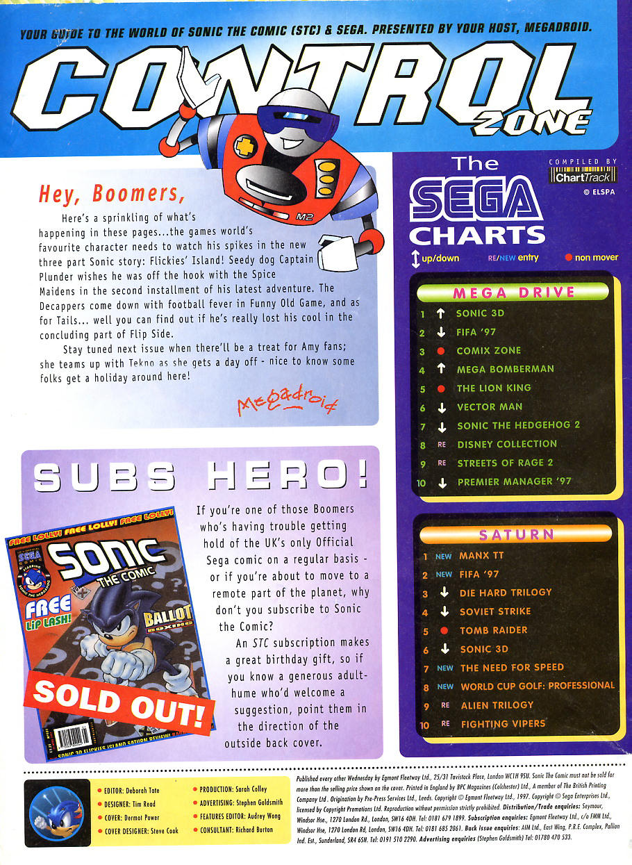 Sonic - The Comic Issue No. 104 Page 1