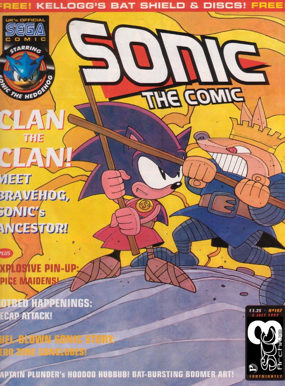Sonic - The Comic Issue No. 107 Comic cover page