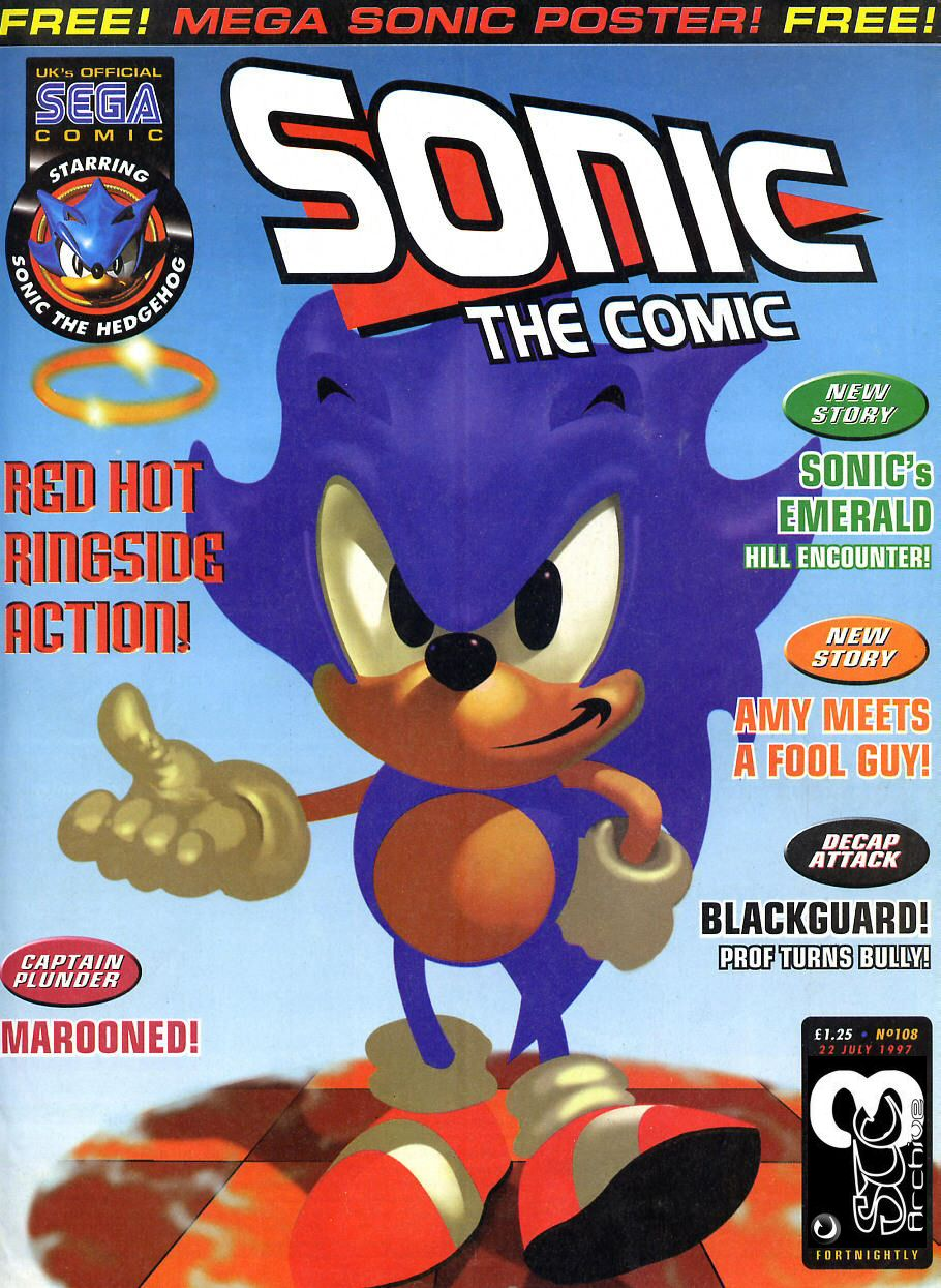 Sonic - The Comic Issue No. 108 Cover Page