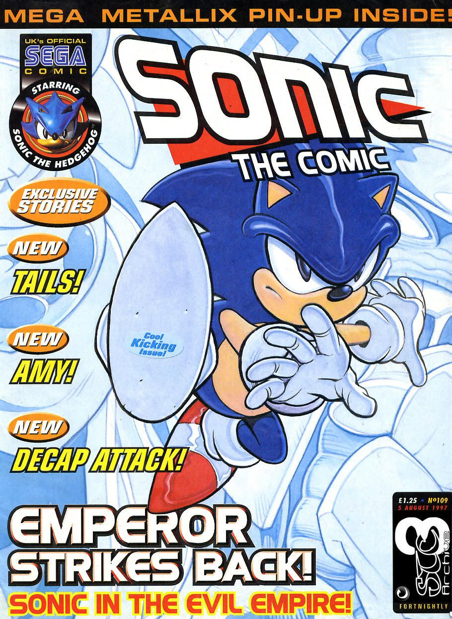Sonic - The Comic Issue No. 109 Cover Page
