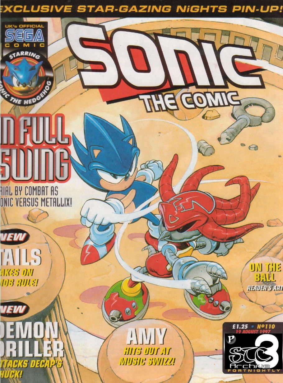 Sonic - The Comic Issue No. 110 Comic cover page
