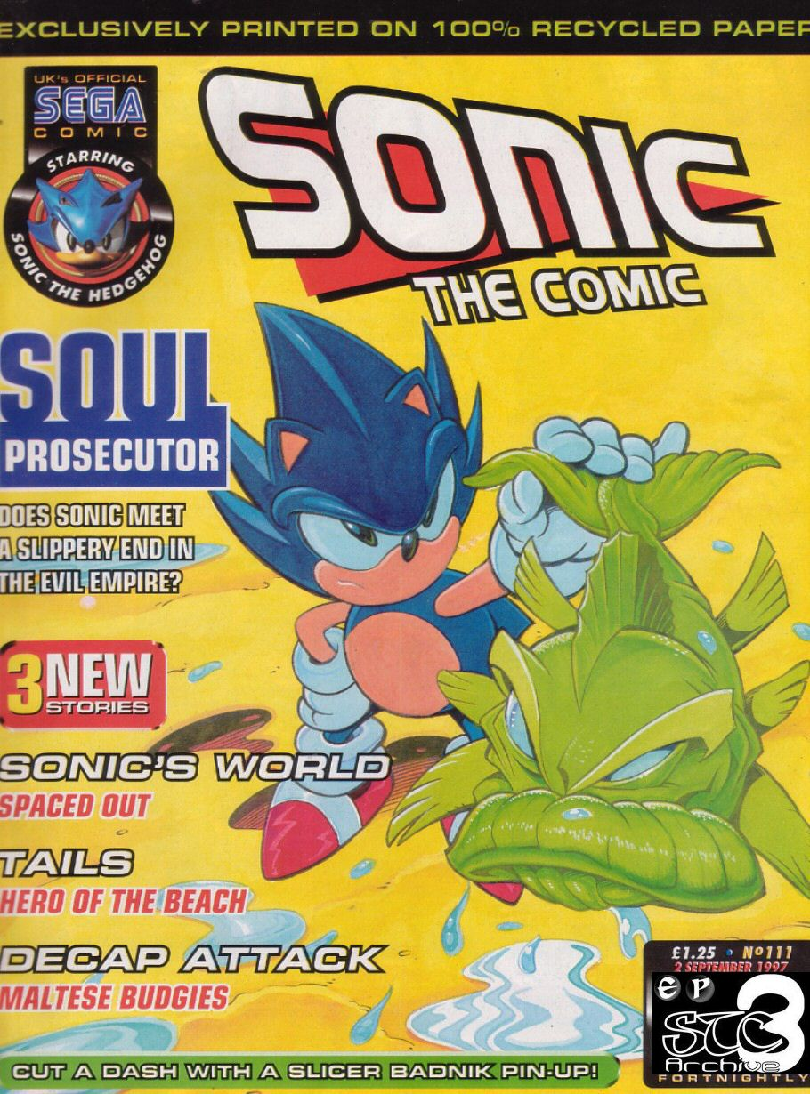 Sonic - The Comic Issue No. 111 Comic cover page