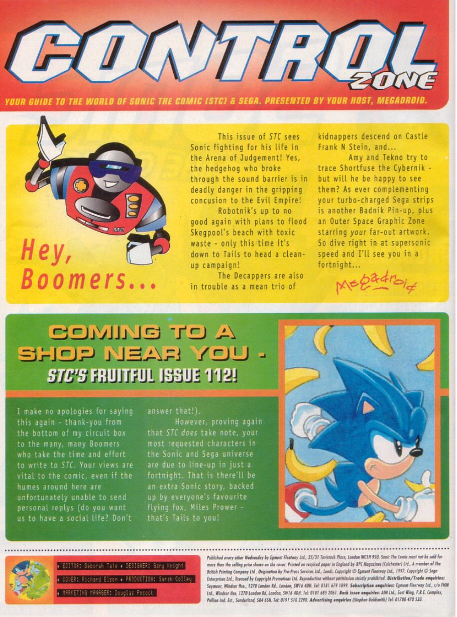 Sonic - The Comic Issue No. 111 Page 1