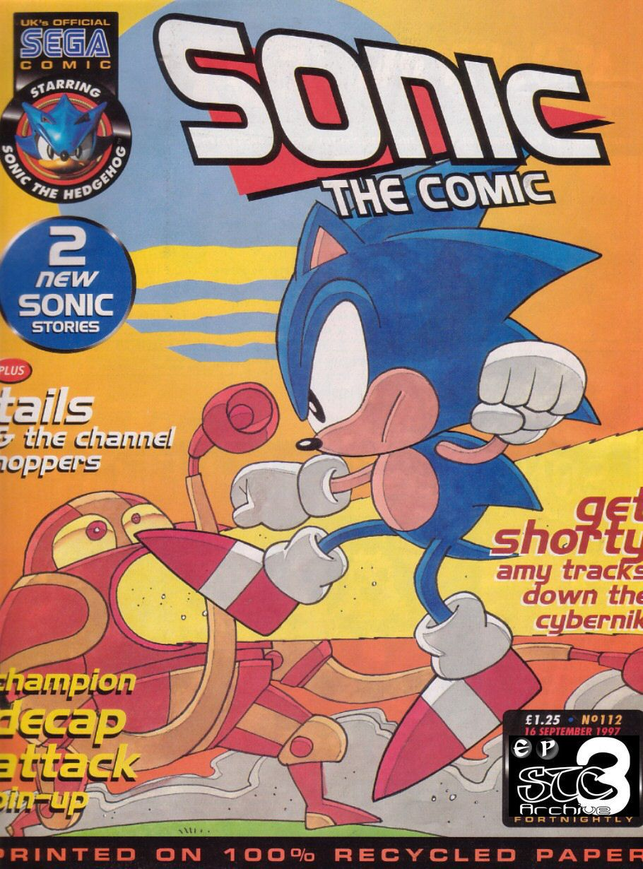 Sonic - The Comic Issue No. 112 Comic cover page