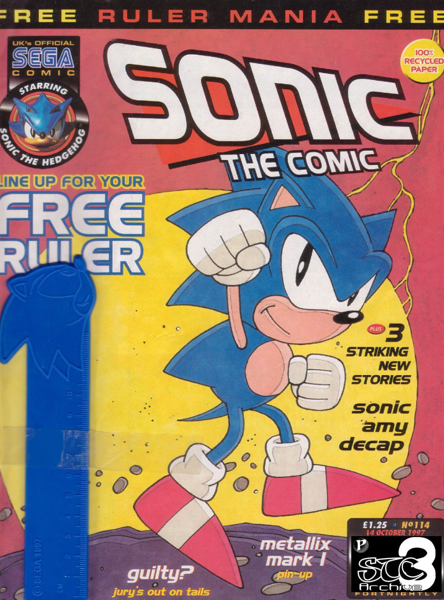 Sonic - The Comic Issue No. 114 Comic cover page