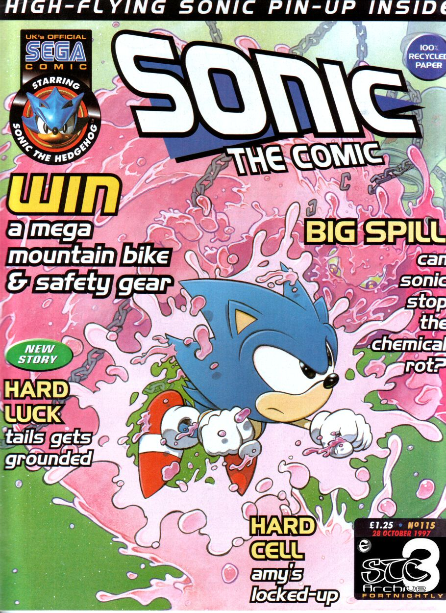 Sonic - The Comic Issue No. 115 Comic cover page