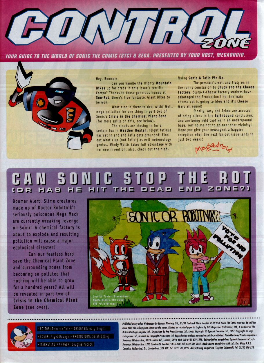 Sonic - The Comic Issue No. 115 Page 1