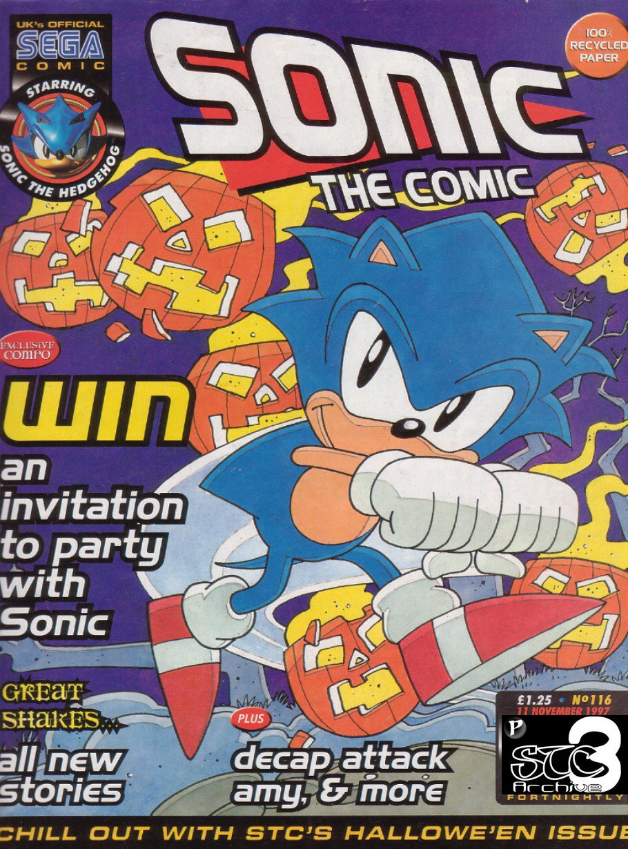 Sonic - The Comic Issue No. 116 Comic cover page