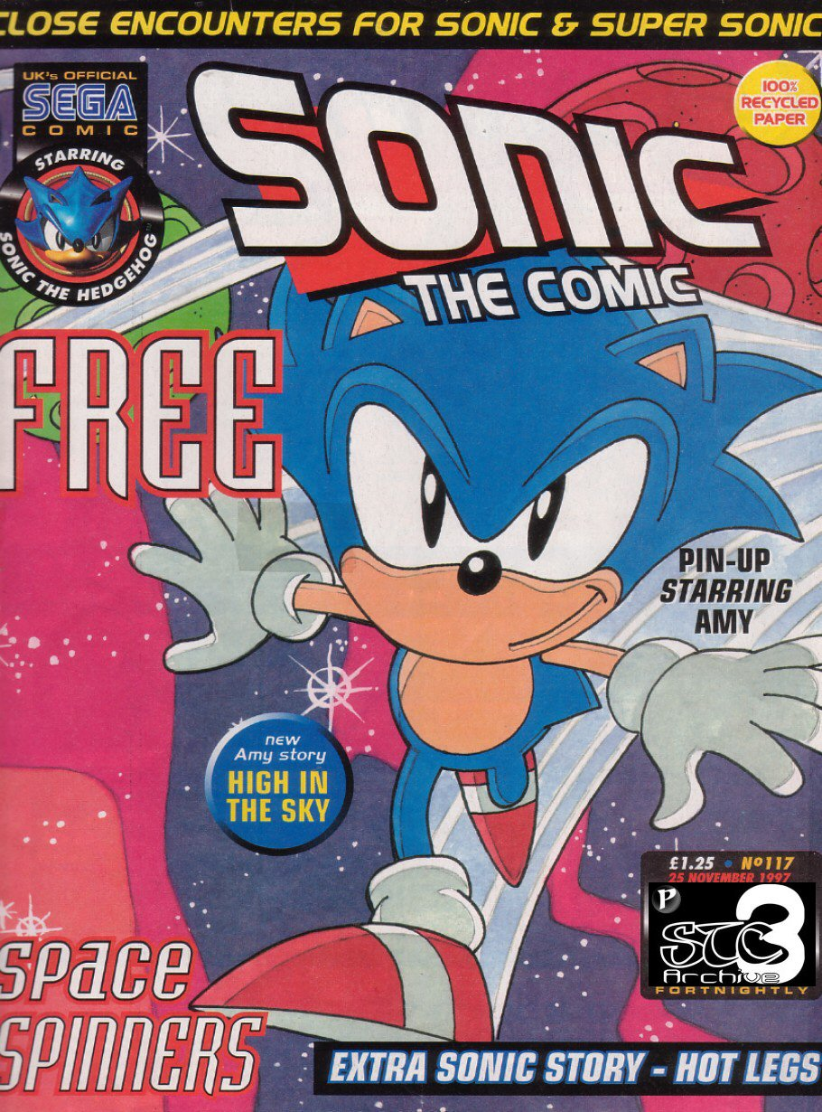 Sonic - The Comic Issue No. 117 Cover Page
