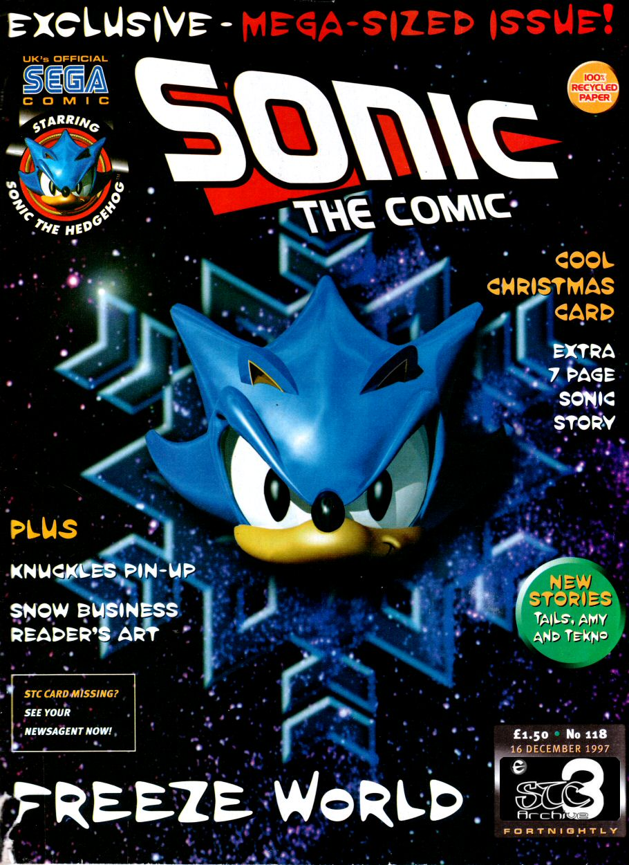 Sonic - The Comic Issue No. 118 Comic cover page