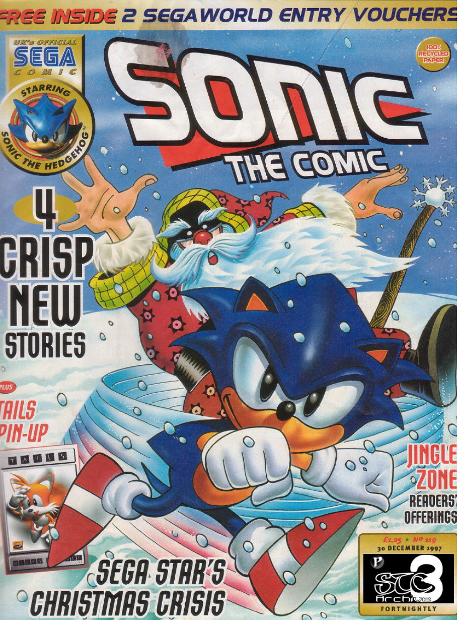 Sonic - The Comic Issue No. 119 Cover Page