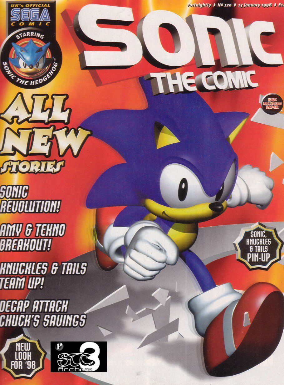 Sonic - The Comic Issue No. 120 Comic cover page