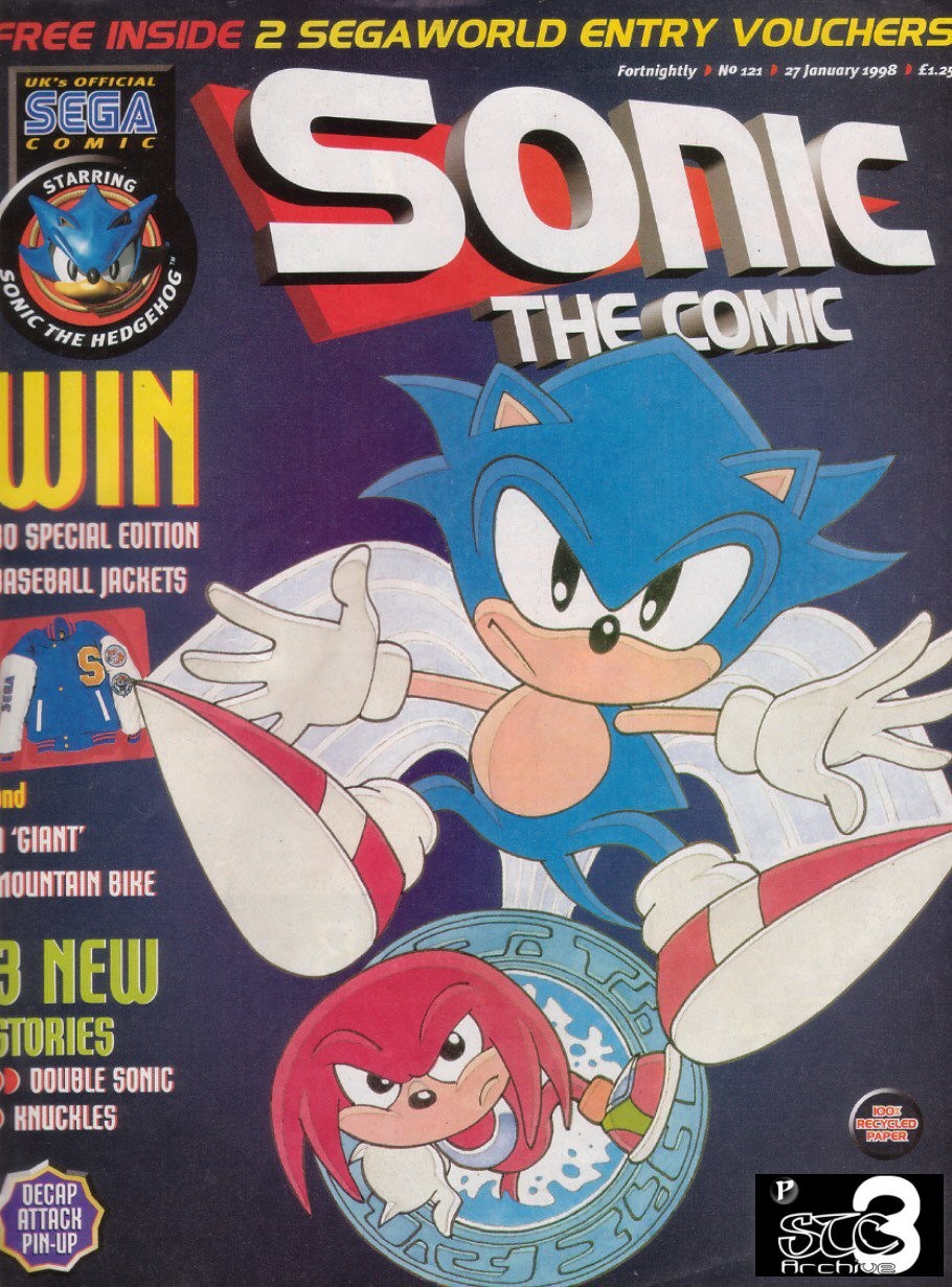 Sonic - The Comic Issue No. 121 Cover Page