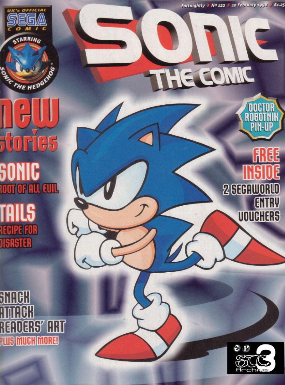 Sonic - The Comic Issue No. 122 Comic cover page