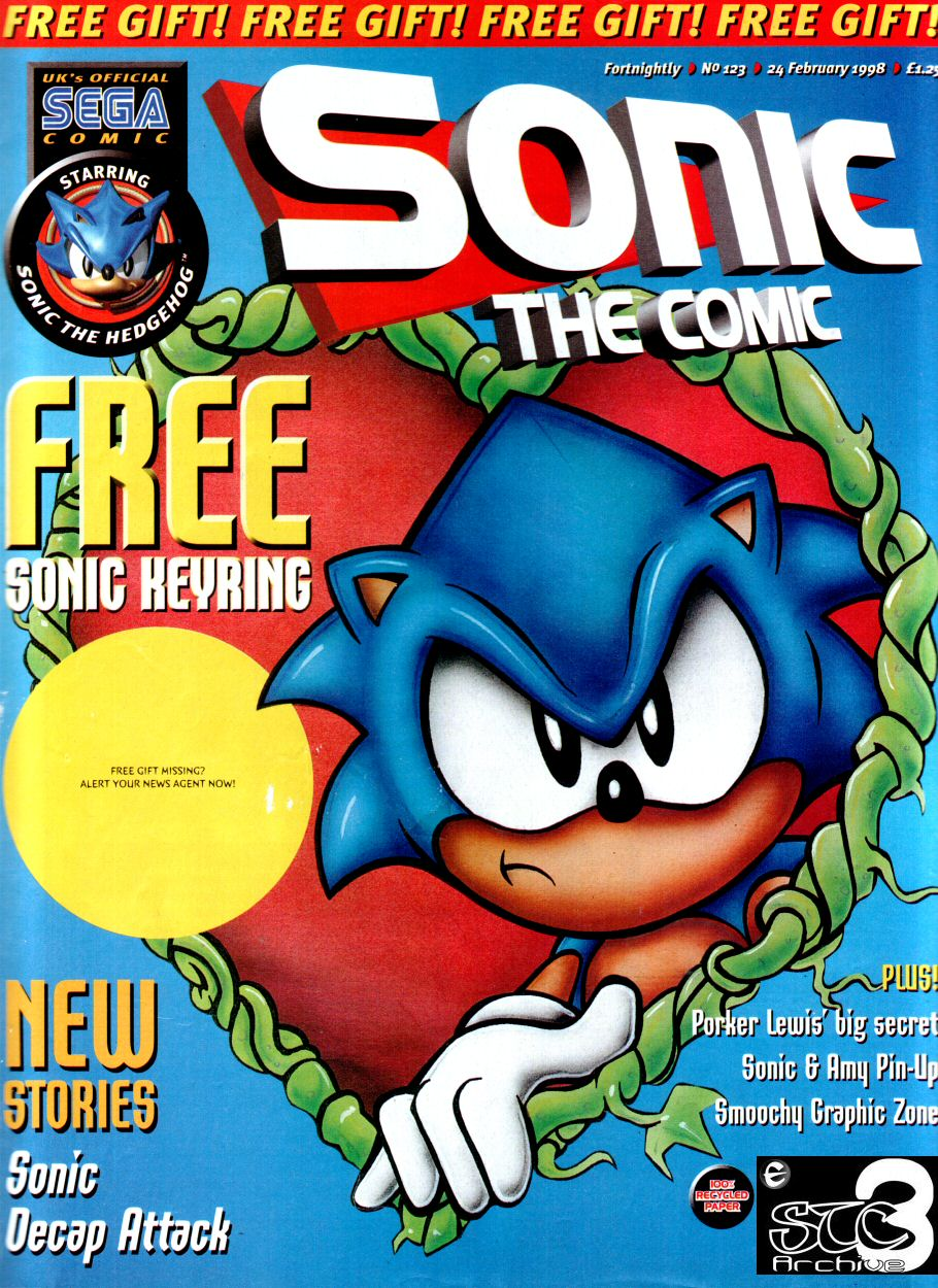 Sonic - The Comic Issue No. 123 Comic cover page