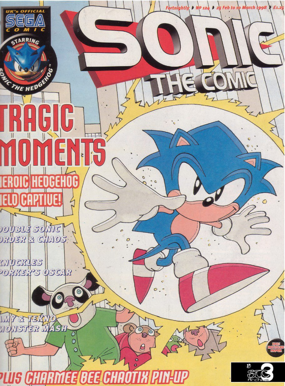 Sonic - The Comic Issue No. 124 Comic cover page