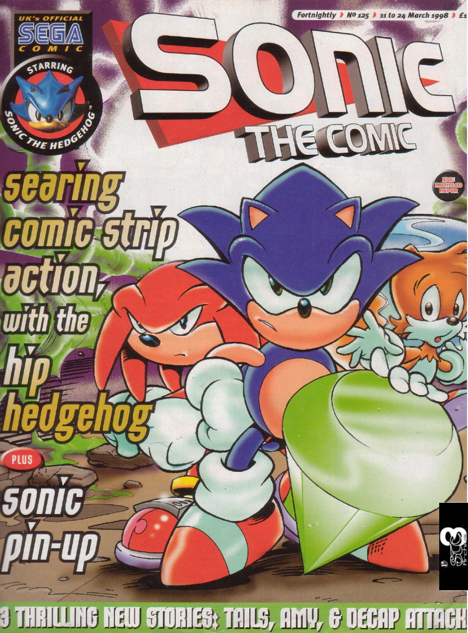 Sonic - The Comic Issue No. 125 Comic cover page