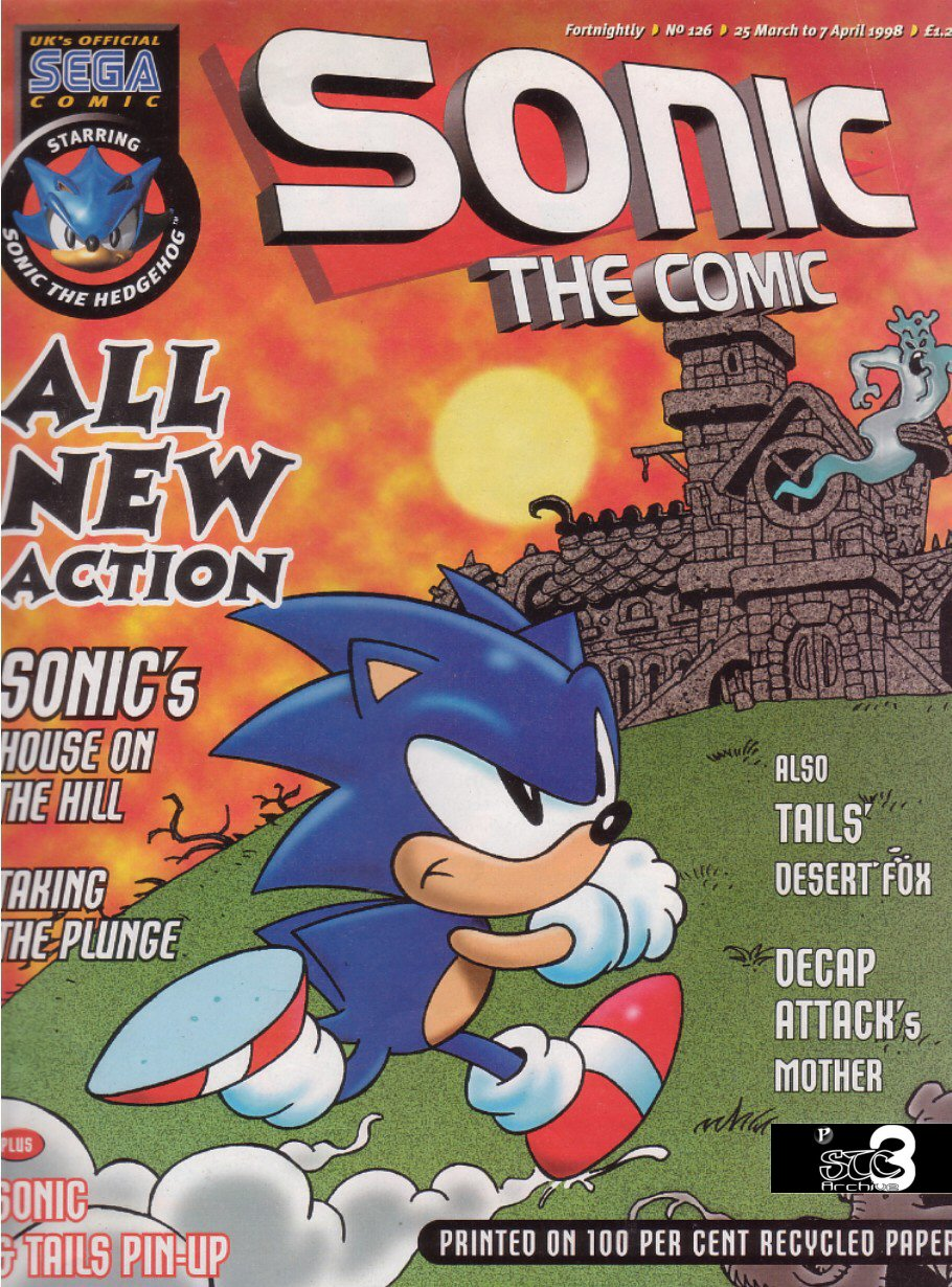Sonic - The Comic Issue No. 126 Comic cover page