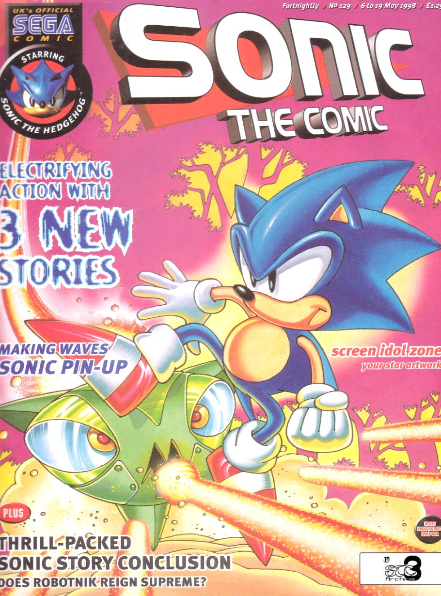 Sonic - The Comic Issue No. 129 Comic cover page