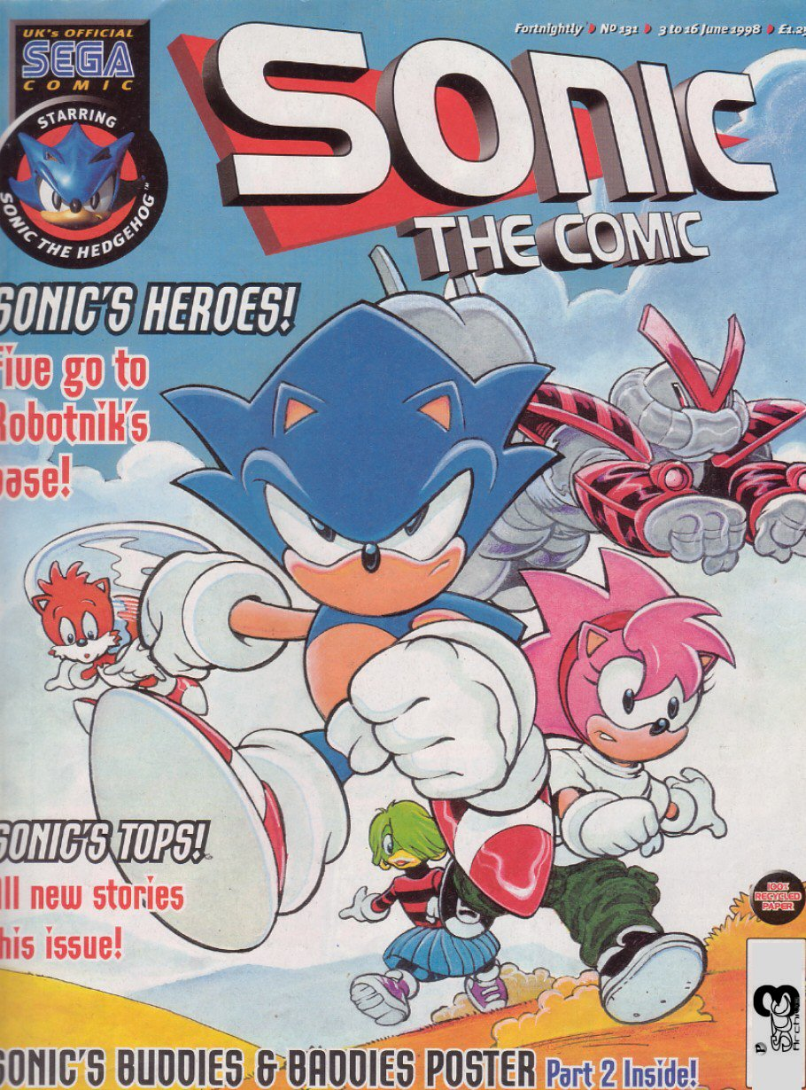 Sonic - The Comic Issue No. 131 Comic cover page