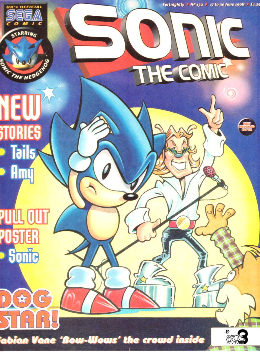 Sonic - The Comic Issue No. 132 Comic cover page