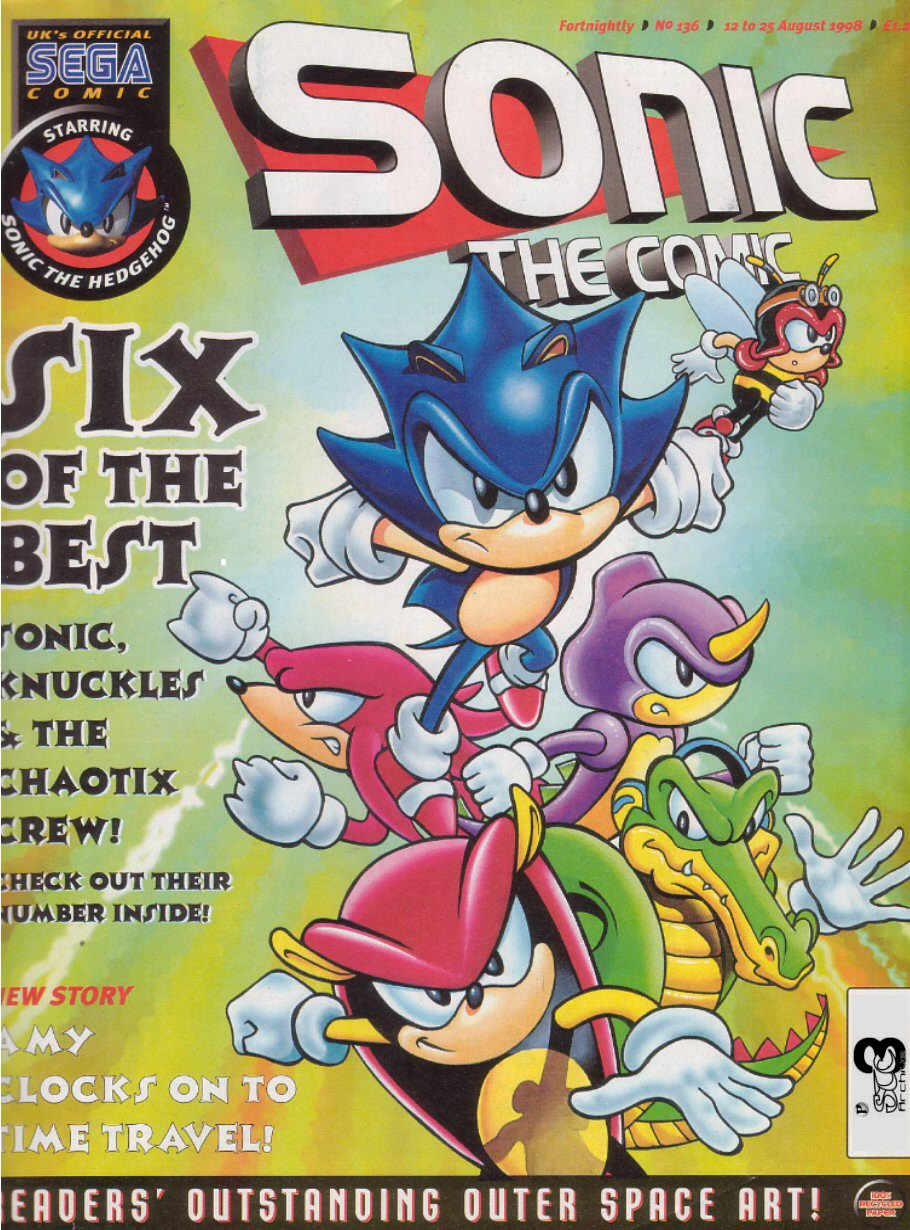 Sonic - The Comic Issue No. 136 Comic cover page