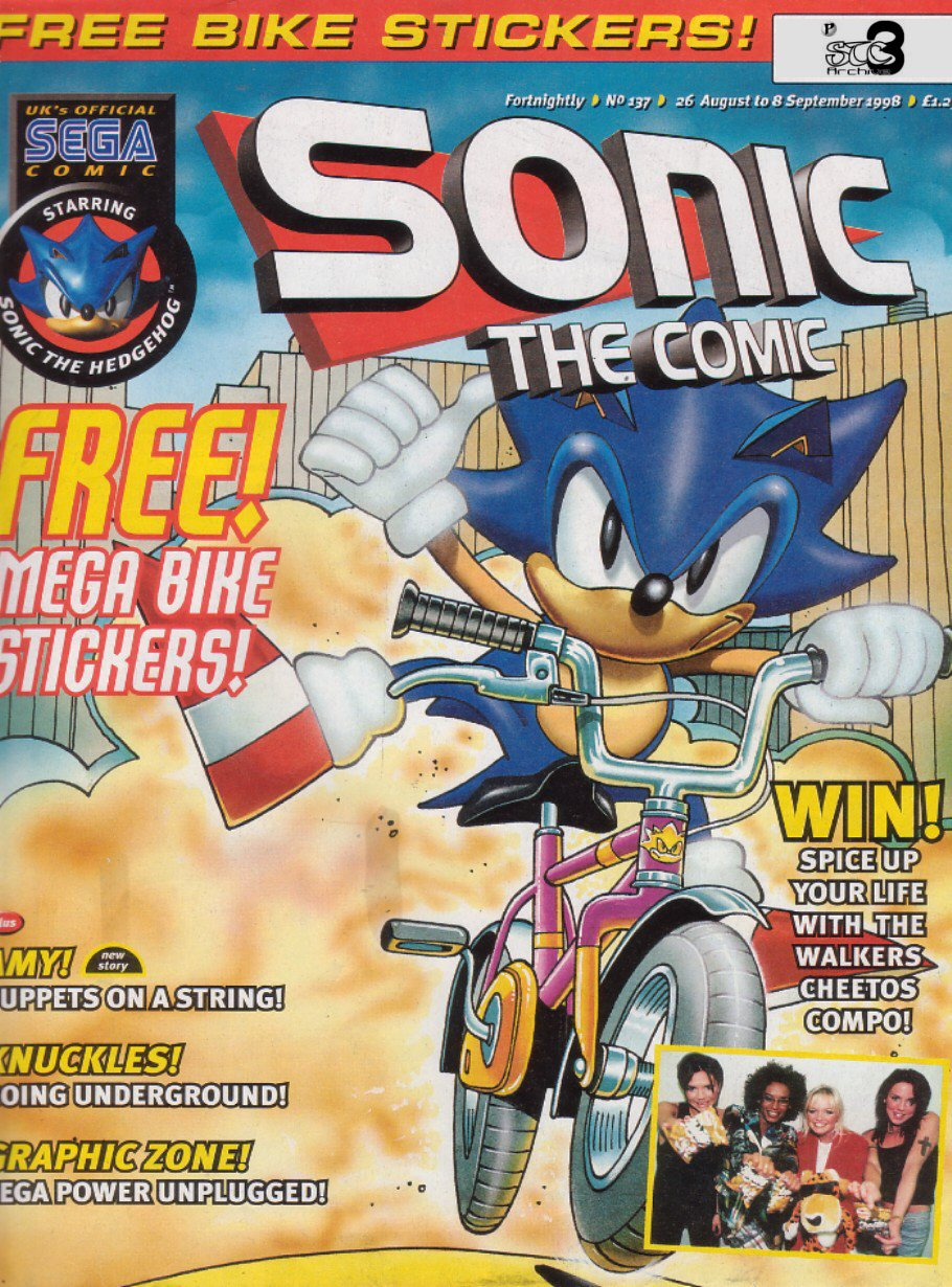 Sonic - The Comic Issue No. 137 Comic cover page