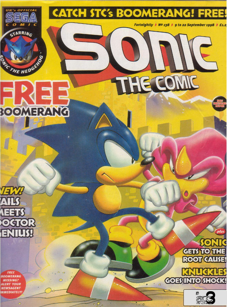 Sonic - The Comic Issue No. 138 Comic cover page