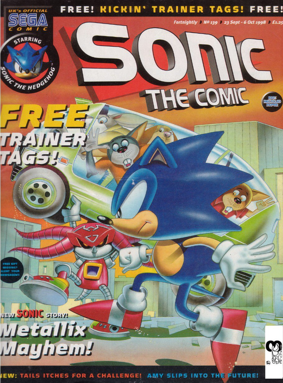 Sonic - The Comic Issue No. 139 Comic cover page
