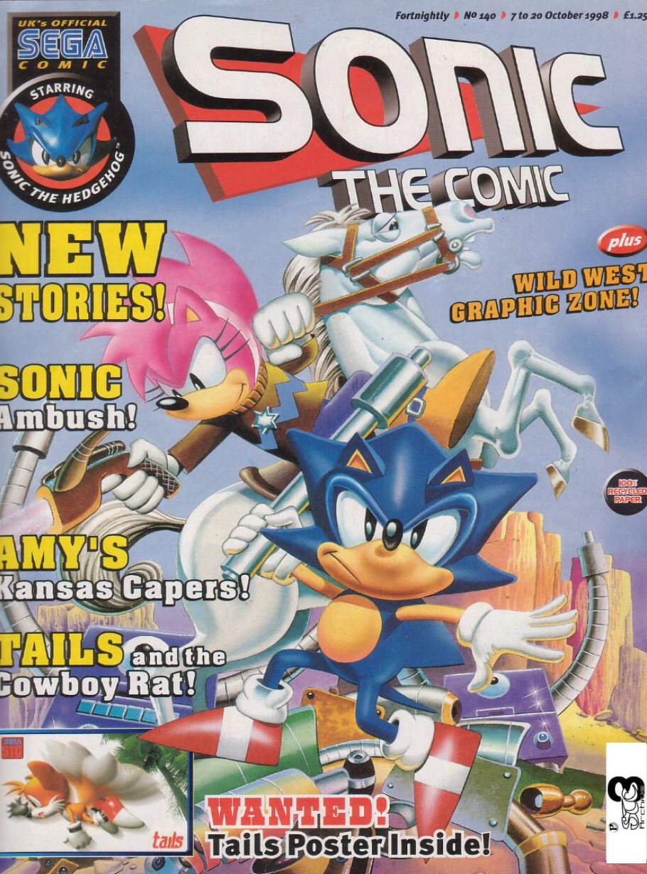 Sonic - The Comic Issue No. 140 Comic cover page
