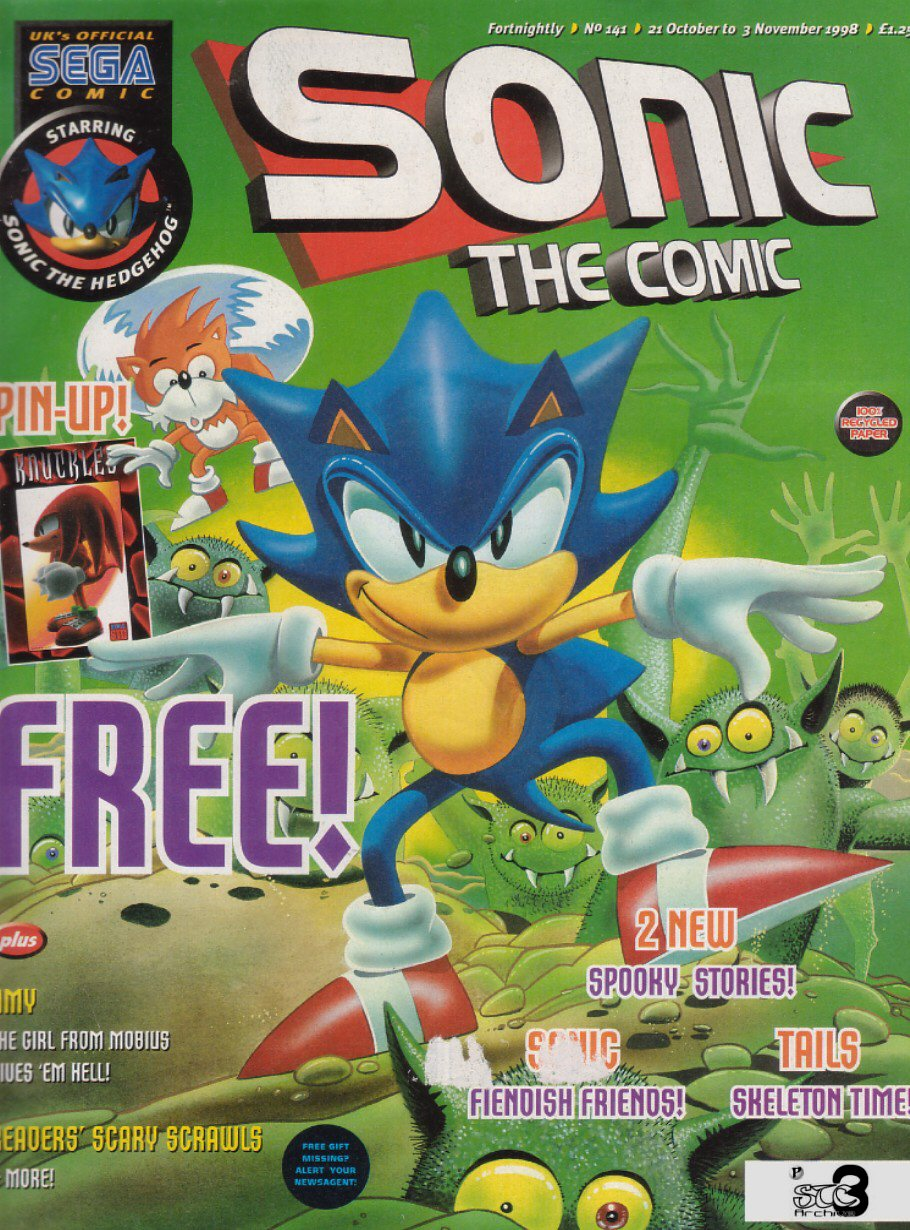 Sonic - The Comic Issue No. 141 Comic cover page