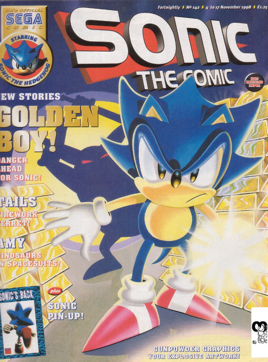 Sonic - The Comic Issue No. 142 Comic cover page