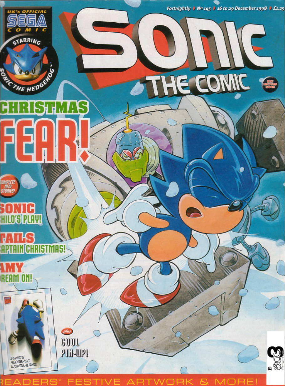 Sonic - The Comic Issue No. 145 Cover Page