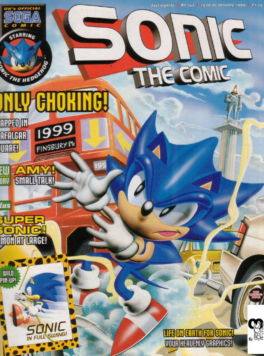Sonic - The Comic Issue No. 147 Comic cover page
