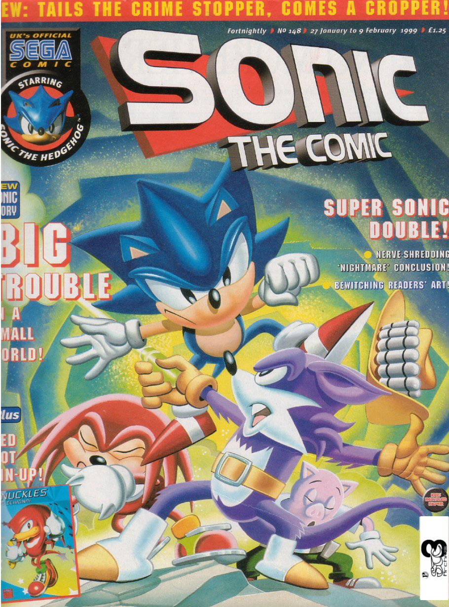 Sonic - The Comic Issue No. 148 Comic cover page