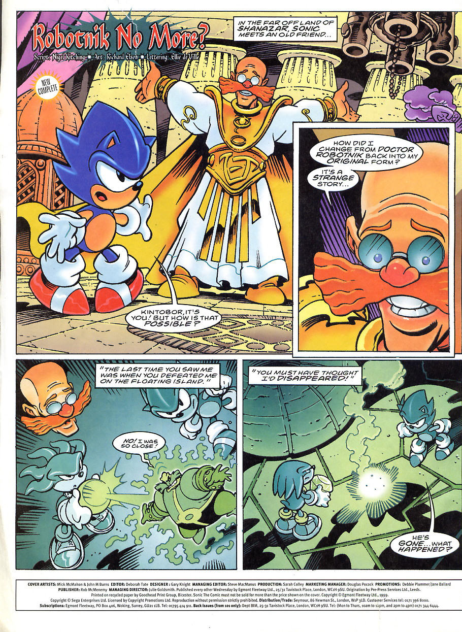Sonic - The Comic Issue No. 150 Page 1