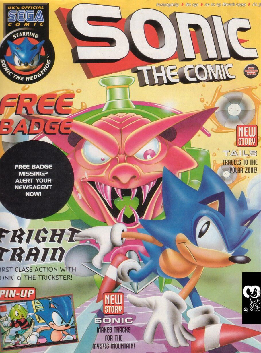 Sonic - The Comic Issue No. 151 Cover Page