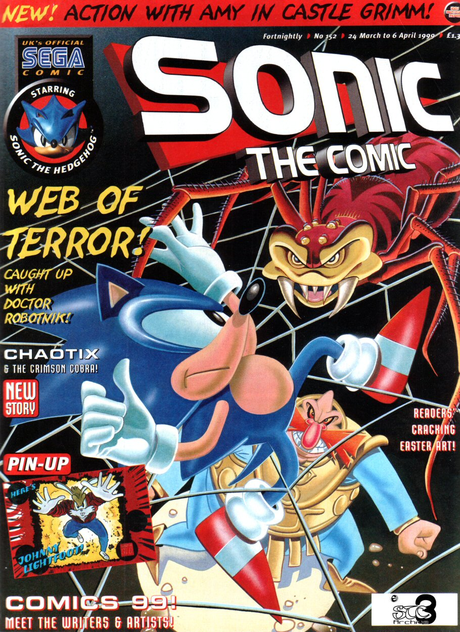 Sonic - The Comic Issue No. 152 Comic cover page