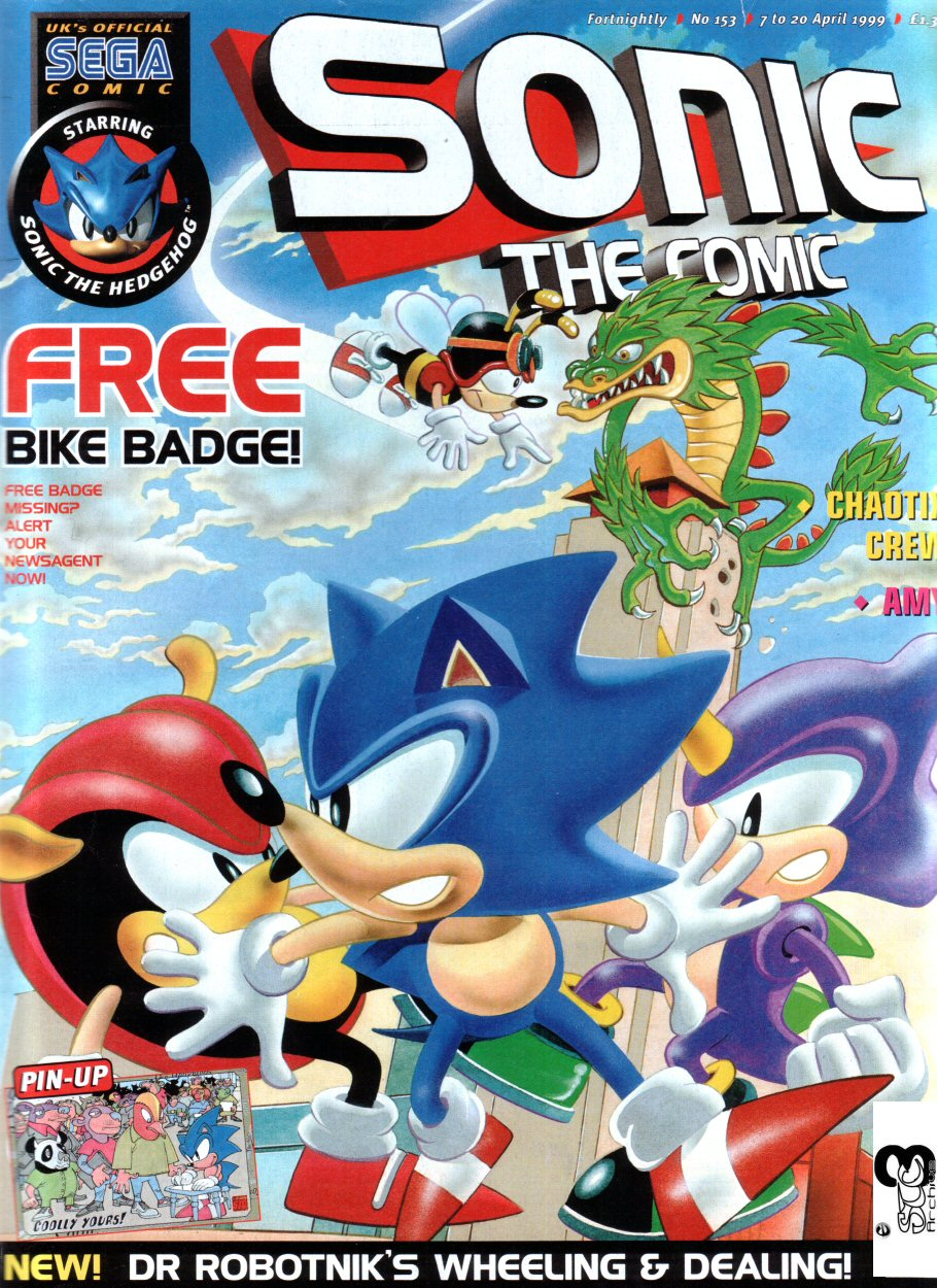Sonic - The Comic Issue No. 153 Comic cover page