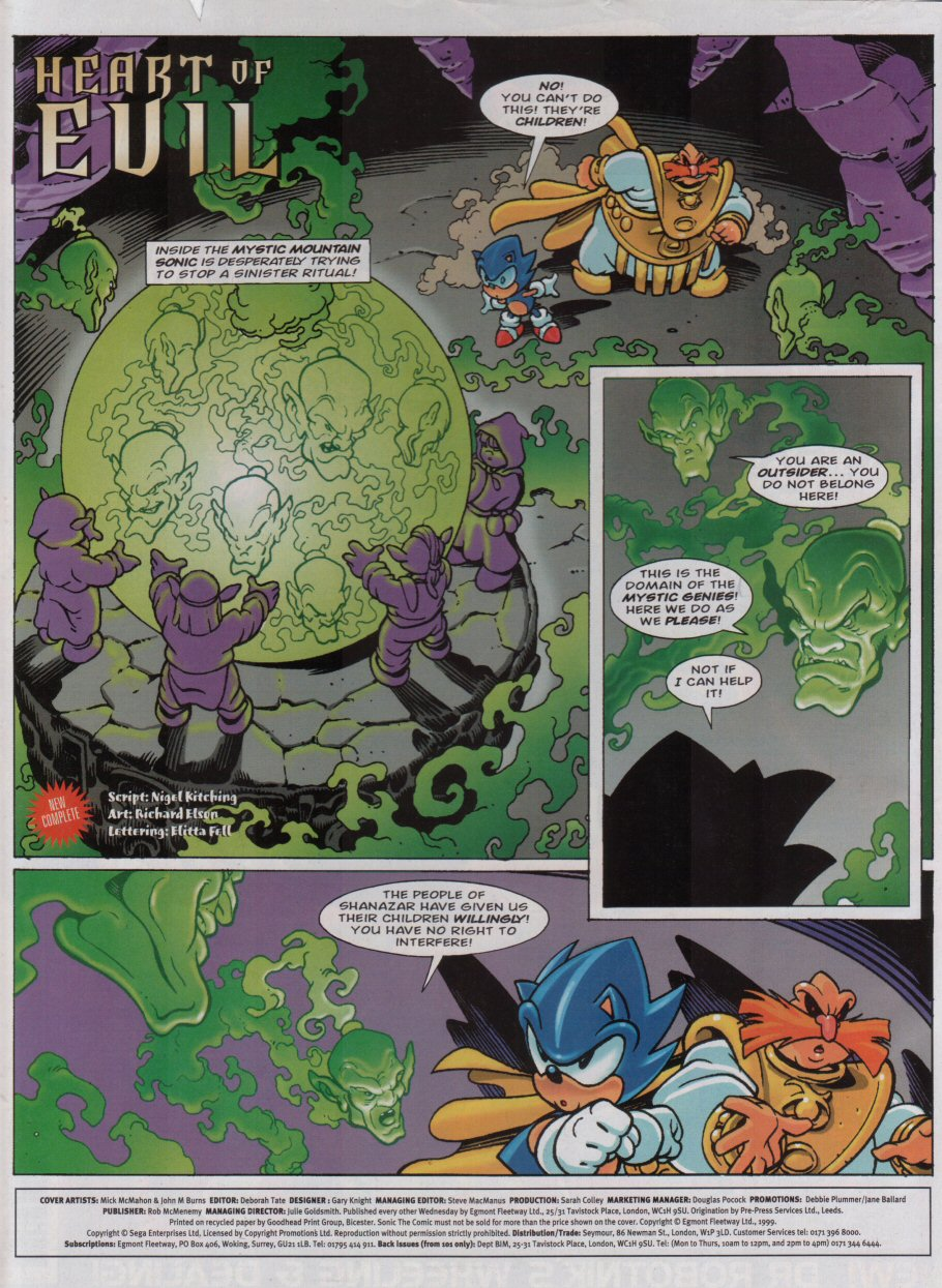 Sonic - The Comic Issue No. 153 Page 1