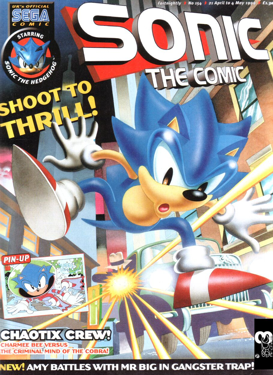Sonic - The Comic Issue No. 154 Comic cover page