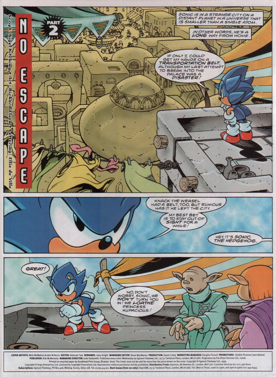 Sonic - The Comic Issue No. 157 Page 1