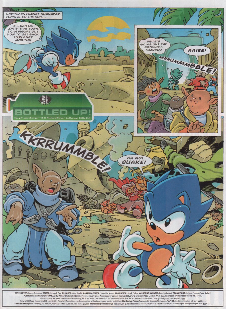Sonic - The Comic Issue No. 158 Page 1